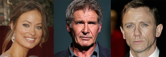 Olivia Wilde, Harrison Ford, Daniel Craig