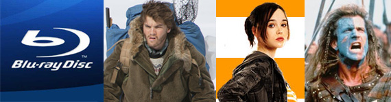 Blu-ray Into The Wild  Juno  Braveheart