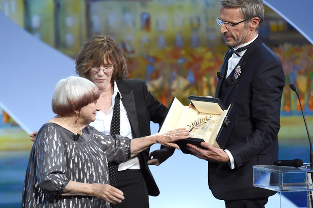 Agnès Varda, Jane Birkin, Lambert Wilson - Palme d'honneur © AFP Anne-Christine Poujoulat
