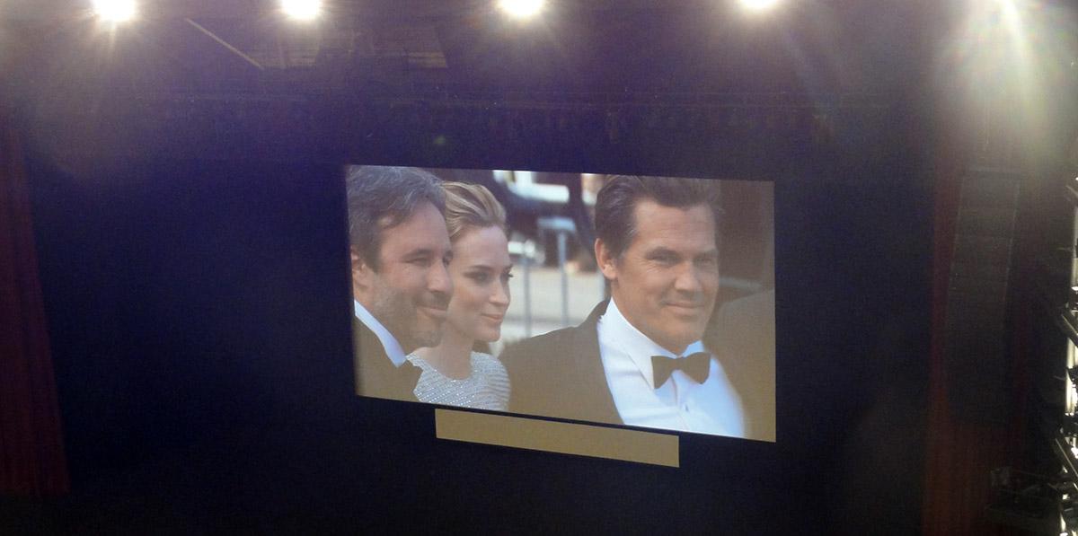 Denis Villeneuve, Emily Blunt et Josh Brolin sur le tapis rouge