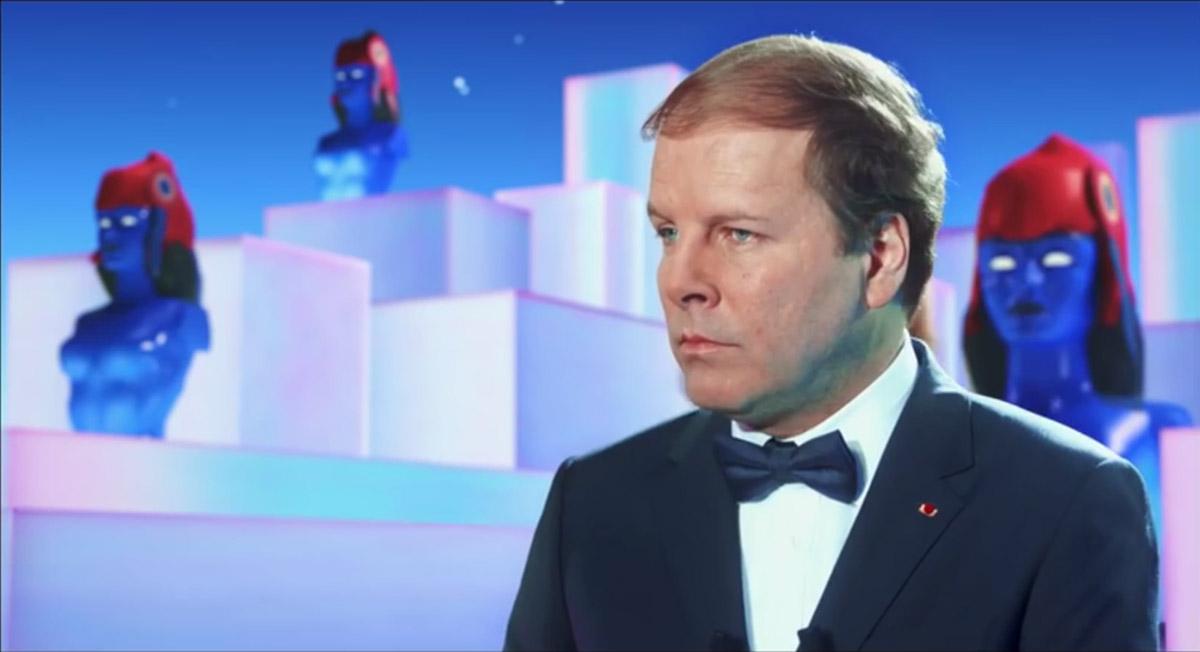 """Philippe Katerine, président minable et mélomane dans """"Gaz de France"""""""