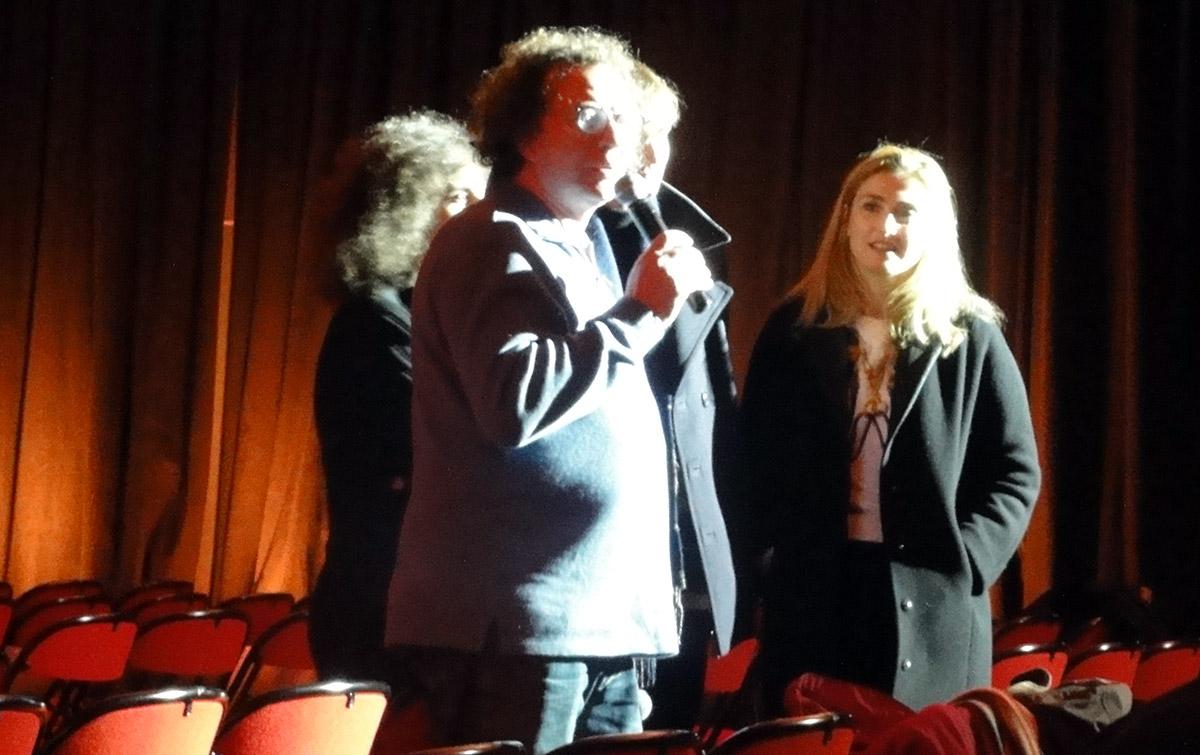 Frédéric Boyer et Julie Gayet. Derrière eux, Massoumeh Lahidji et Olmo Omerzu.